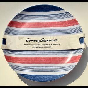 Tommy Bahama Plates Melamine Red, White & Blue